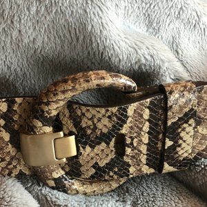 Banana Republic Snakeskin Leather Belt